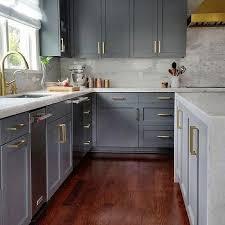 Dark Shaker Kitchen Cabinets White Shaker Kitchen Cabinets Brushed Brass Cabinet Pulls Design Ideas