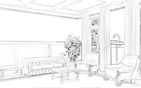 simple bedroom sketch interior design blueprints excellent house