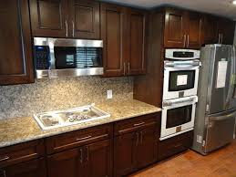 Paint Colors For Kitchens With Dark Brown Cabinets - kitchen backsplash cherry cabinets with granite countertops dark