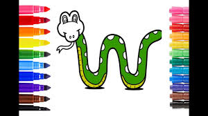 color snake draw snake learn colors