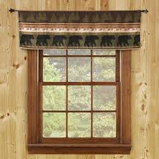 special price smokey bear valance and drapes cabin place