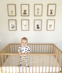 Ikea Mini Crib by Spencer U0027s Neutral Nursery Featuring The Stunning The Animal Print