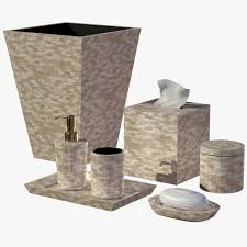 Mosaic Bathroom Accessories by Pearl Seashell Mosaic Bathroom Accessory Set Seashell Bathroom