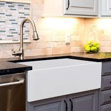Nantucket Sinks Cape  X  Farmhouse Kitchen Sink With Offset - Farmhouse kitchen sink