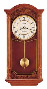 wall watch bulova c4331 antique style chiming wall clock clocktiques