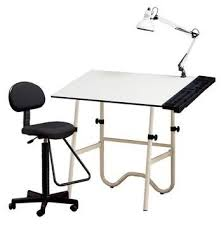 White Drafting Table Alvin Cc2001e Creative Center Drafting Combo Includes Drafting