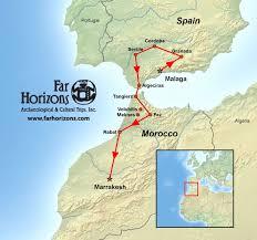 Map Of Malaga Spain by Spain Morocco Tour Granada Cordoba Servilla Marrakech Map 2 Far