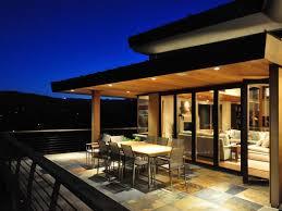 Modern Hillside House Plans Steep Hillside Homes Deck Twilight Terrace Green Roof Hillside