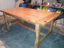 how to stain pine table farm table white