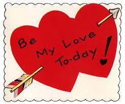 retro valentine image double heart with arrow the graphics fairy
