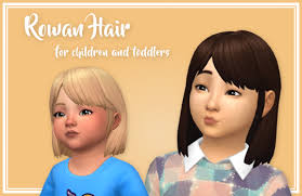 childs hairstyles sims 4 rowan hair converted for children and toddlers hi stephanine
