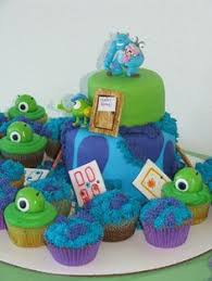 monsters inc baby shower ideas inc baby shower cake with mike and sully so