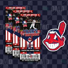 sports invites 2 5 6 u2033 cleveland indians sports party invitations