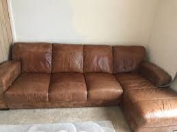 SOFA  SEATER LEATHER SOFA WITH SHEZLONGLEATHER ARM CHAIR AND - 4 seat leather sofa