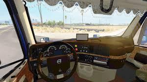 2017 volvo 780 interior volvo volvo trucks and car interiors vnl 430 v1 4 for american truck simulator