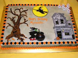 halloween haunted birthday theme cake cakecentral com