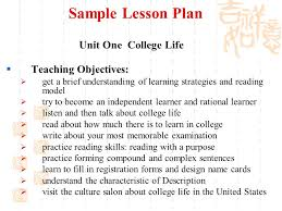unit two course planning teaching note 1 let students present