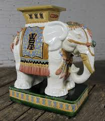elephant end tables ceramic sold elephant garden stools side end tables stands vintage made in
