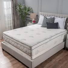 aloe gel memory foam 13 inch queen size pillow top mattress by