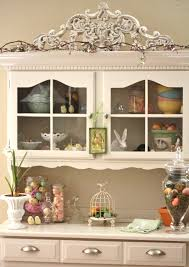 kitchen hutch ideas i like how goodwill gal added the decoration to the top of this