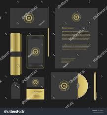 luxury logotype presentation corporate identity template stock