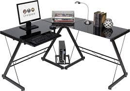 Black Glass L Shaped Computer Desk Top 10 Best Home Office U0026 Gaming Computer Desks In 2017 Reviews