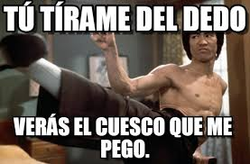 Bruce Lee Meme - t禳 t祗rame del dedo bruce lee meme on memegen