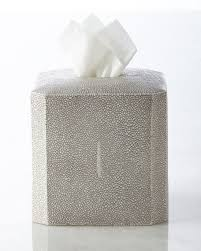 kassatex shagreen tissue box cover