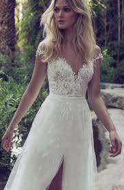 the shoulder wedding dress embellished the shoulder slit tulle skirt wedding dress