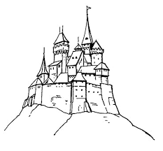 coloring pages castles animated images gifs pictures