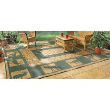 Rv Outdoor Rug Rv Outdoor Green Rug 9x18 Indoor Patio Deck Cer Mat Reversible
