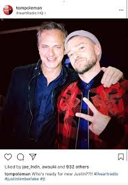Justin Timberlake Not A Bad Thing Head Of Iheartradio Confirms New Justin Timberlake Music Is Coming