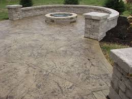 Backyard Cement Ideas Cement Patio Sted Concrete Patio With Firepit Sted