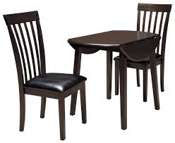 ashley dining room chairs ashley signature design hammis 3 piece round drop leaf table set