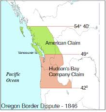 map of oregon country 1846 canada a country by consent road to confederation oregon border