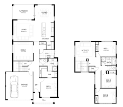 Duplex Plan Ultra Modern House Plans One Story Ranch Style Double Storey