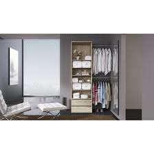 cuisine uip cdiscount dress up dressing extensible contemporain blanc mat l 112 185 cm