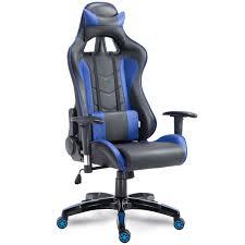reclining gaming desk chair costway rakuten costway high back executive racing reclining