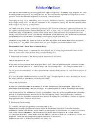 cover letter examples of a scholarship essay examples of essay for