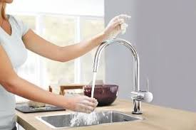 touch faucets kitchen minta touch kitchen faucets grohe