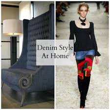 denim style at home