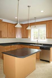 kitchen contempo small kitchen decoration using cherry wood