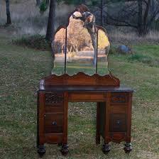 Antique Vanity Mirror Victoria Wood Vanity With Mirror Forever Vintage Rentals