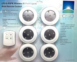puck lights with remote oso bright 6 led puck lights with wireless remote starrs products
