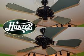 Hunter Ceiling Fan Replacement Blades by Hunter Outdoor Original Blades On Black Original Ceiling Fan