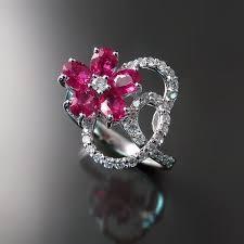 ruby diamond ring ruby diamond ring flower design zoran designs jewelry
