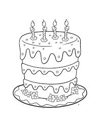 birthday cake coloring page for kids birthday coloring pages of