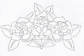 dice n knuckles tattoo design