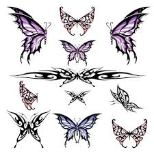 tribal butterfly tattoos designs