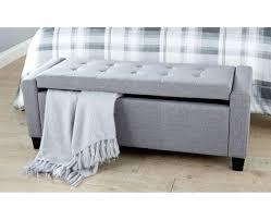 storage bench target image of grey leather storage bench bedroom
